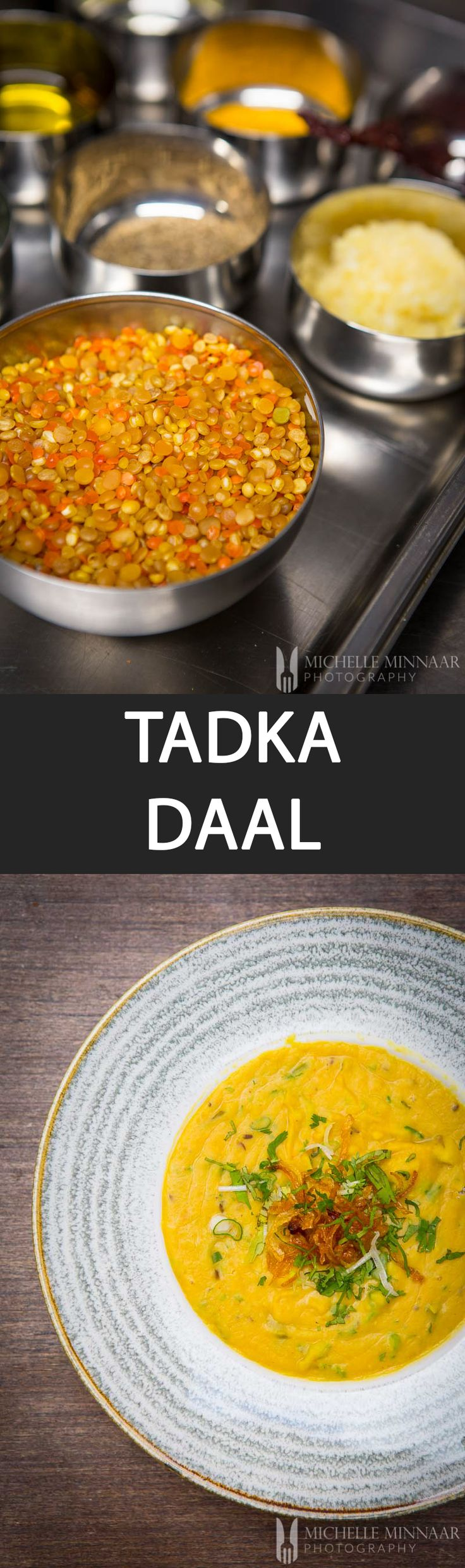 Tadka Daal - {NEW RECIPE} This Tadka Daal recipe is made with yellow and pink lentils. The dish can be served as a main course or side with rice or bread. It's very economical too!