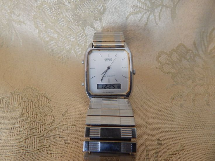 Vintage Seiko Watch Combination of Digital and Analog 1970's by AlwaysPlanBVintage on Etsy
