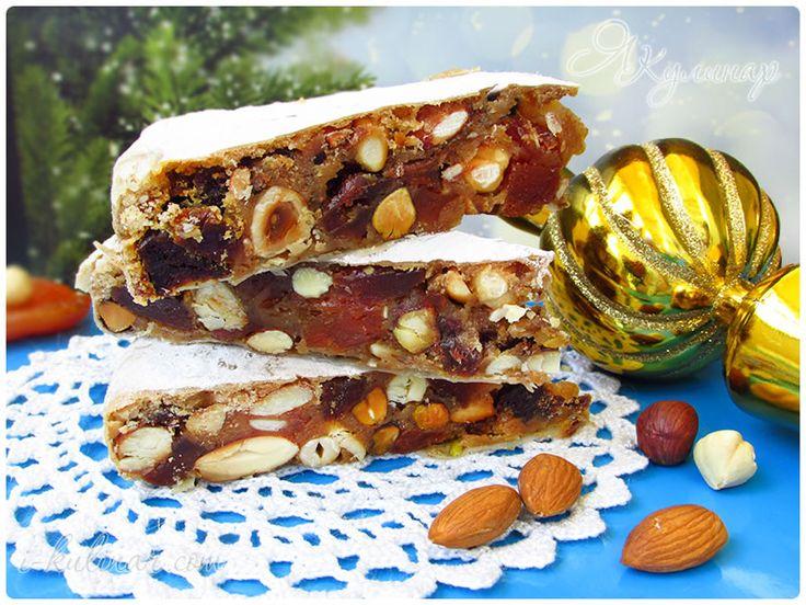 Великолепное итальянское лакомство — панфорте. В нем гора орехов, сухофруктов и ягод