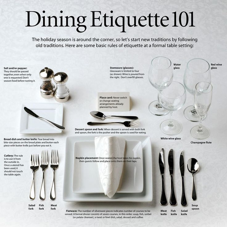 How To Set Silverware On The Table Part - 41: Dining Etiquette 101