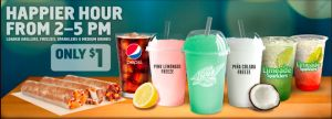 """Taco Bell: """"Happier Hour"""" Snacks and Drinks just $1.00"""