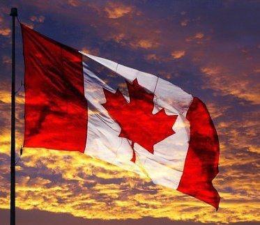 Canada Flag sunset