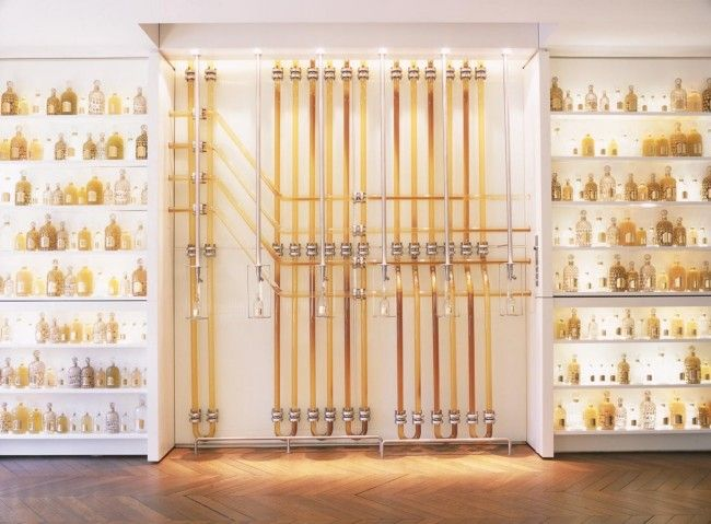 "The Guerlain ""Perfume Organ"" at the Parisian flagship store on the Champs d'Elysées"