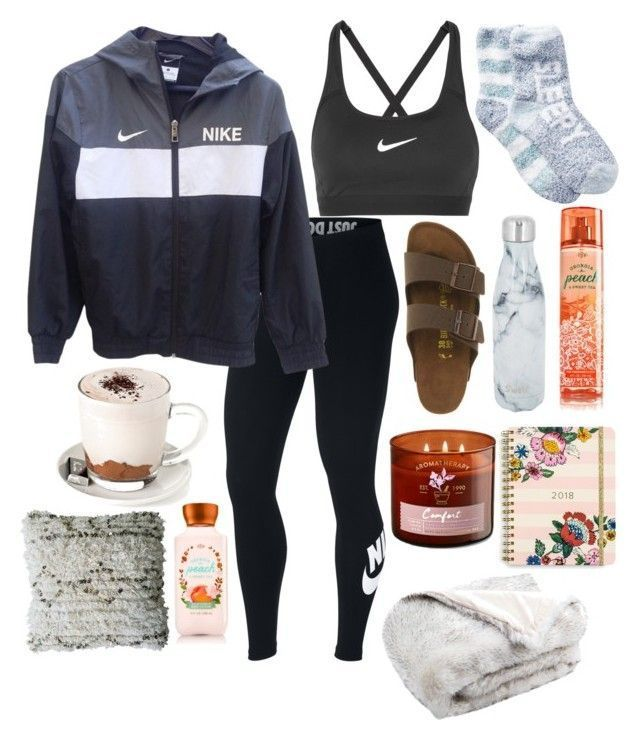 Untitled #191 by thorntonangel on Polyvore featuring Free Press, NIKE, Birkensto…