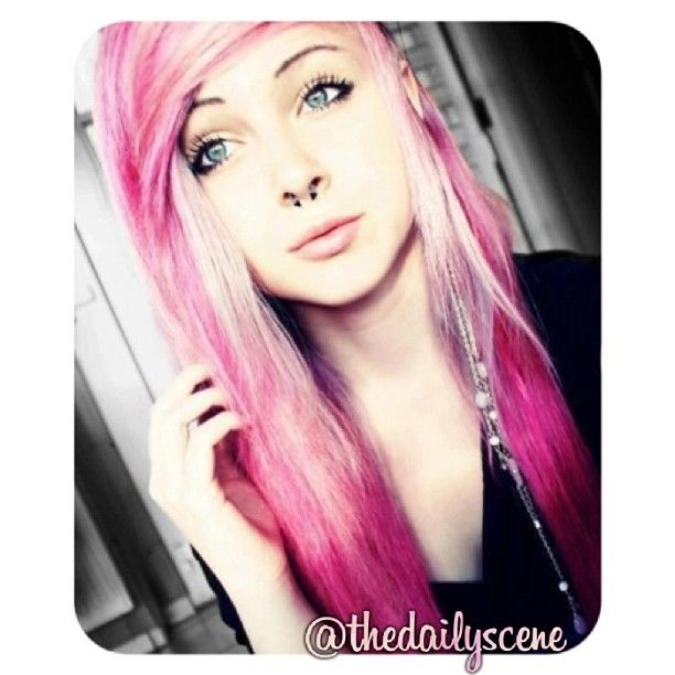 #scene  #scenehair  #pink  #hair  #cute  #piercing  #septumpiercing  #scene  #scenehair  #pink  #hair  #cute  #piercing  #septumpiercing