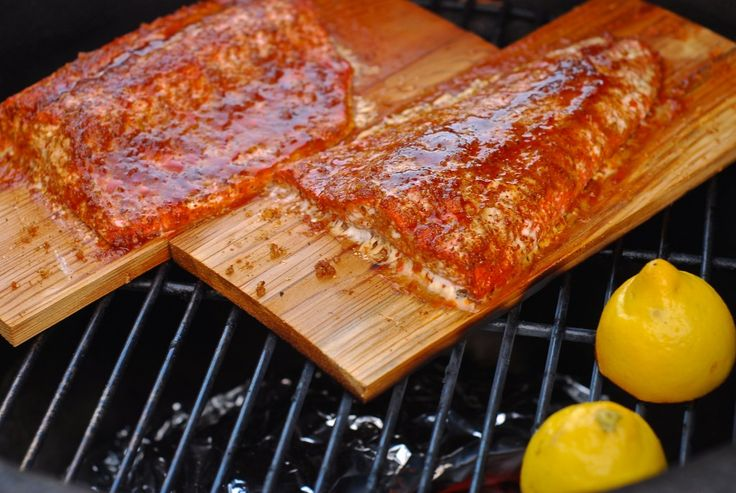 how to make cedar planked salmon on the big green egg ...