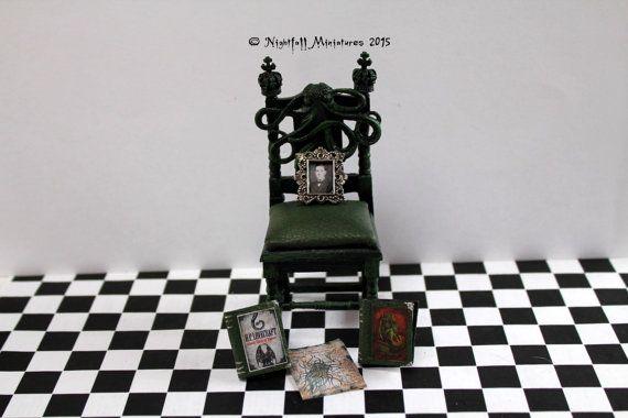 Dollhouse Miniature H P Lovecraft Cthulhu by NightfallMiniatures