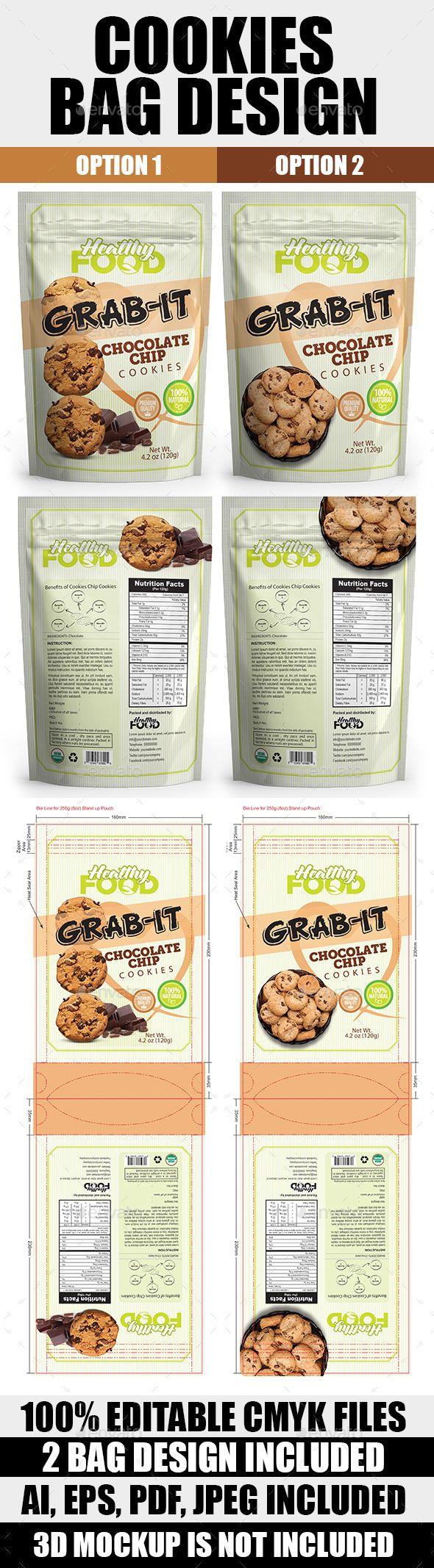 Cookies Bag Packaging Template