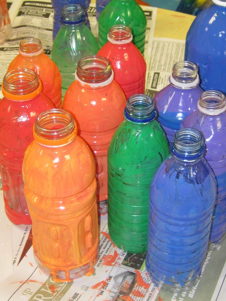17 best images about art chihuli art projects on for Plastic water bottle art