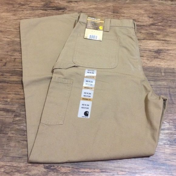 Men's Carhartt work pants NWT. Canvas Work Dungaree fit. Size is 40x34. Retail for $60+. Carhartt Pants