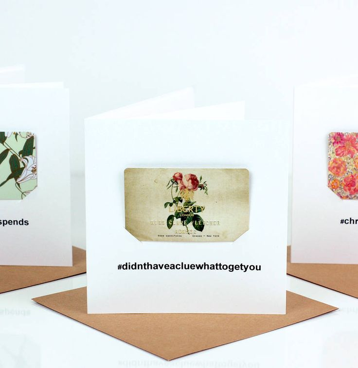 hashtag vouchers personalised cash christmas card by made with love designs ltd | notonthehighstreet.com