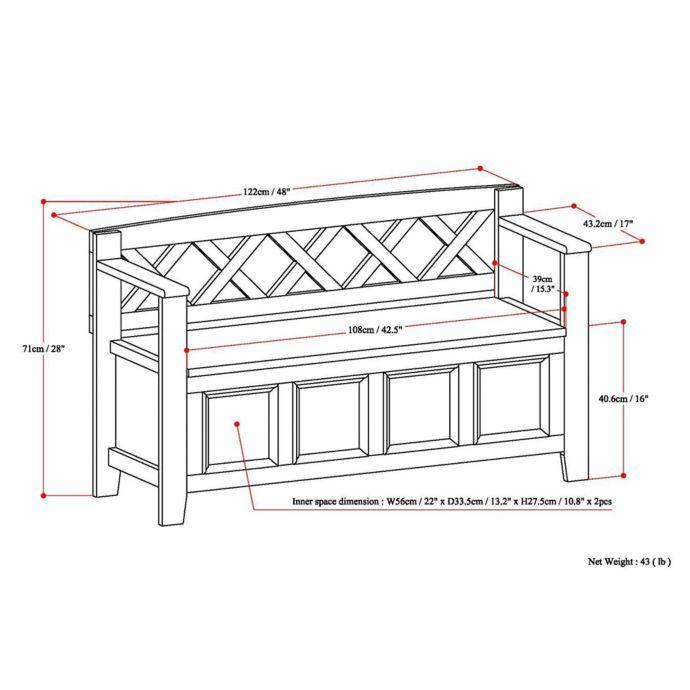 Alternate Image 5 For Simpli Home Amherst Entryway Bench In White Entryway Bench Storage Entryway Storage Simpli Home