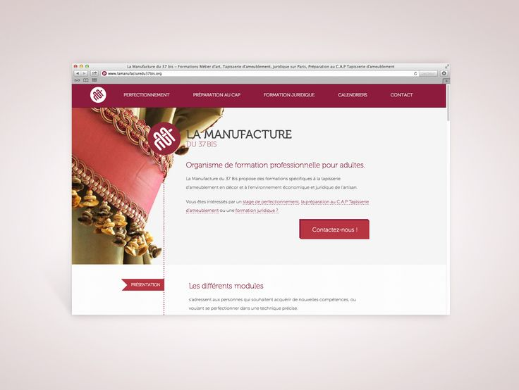 """www.lamanufacturedu37bis.org / 1-page website for """"La Manufacture du 37 bis"""", a tapestry formation center located in Paris HTML5, CSS3, JQuery. Responsive website, developped with Zurb's Foundation framework.  #html5 #css3 #responsive #webdesign"""
