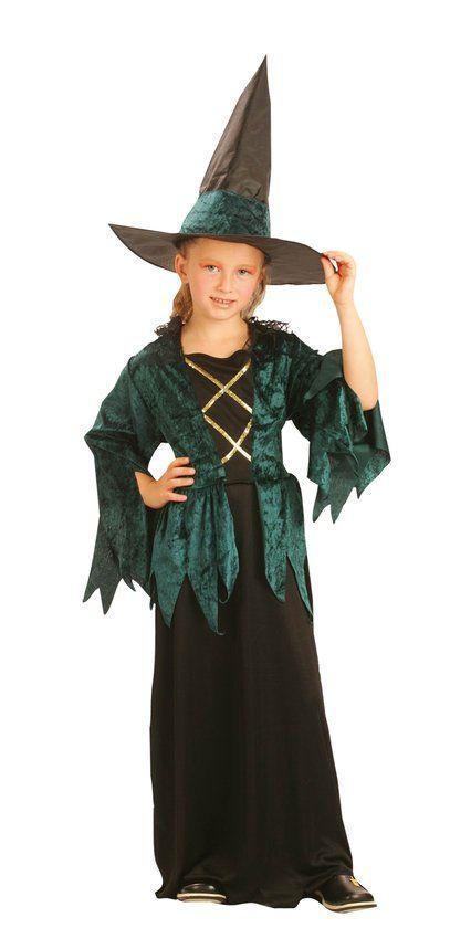 Halloween Luxe Gothic Heks - Kostuum - 4-6 jaar