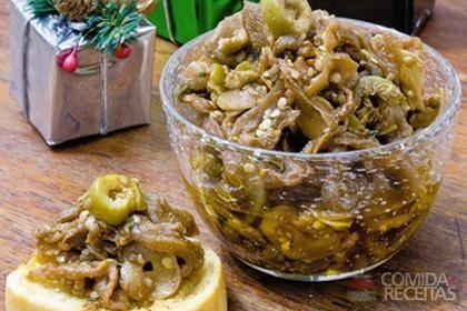 Receita de Antepasto de berinjela especial em receitas de legumes e verduras, veja essa e outras receitas aqui!