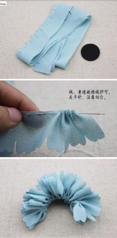 Knutselen - een bloem maken van stof nr1 #diy