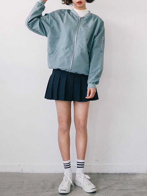 this jacket is actually cute, but as a proof of concept of being able to wear (relatively small) zip up hoodies if you want as long as you wear skirts too
