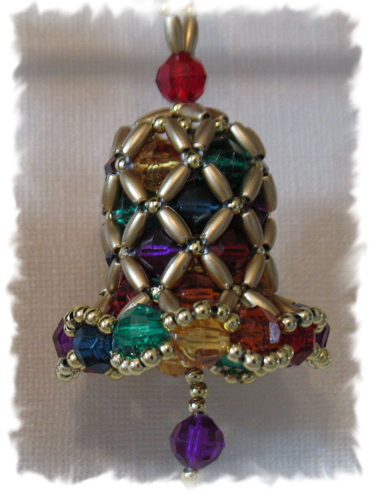 Bell Decorations 42 Best Beaded Bell Ornaments Images On Pinterest  Christmas