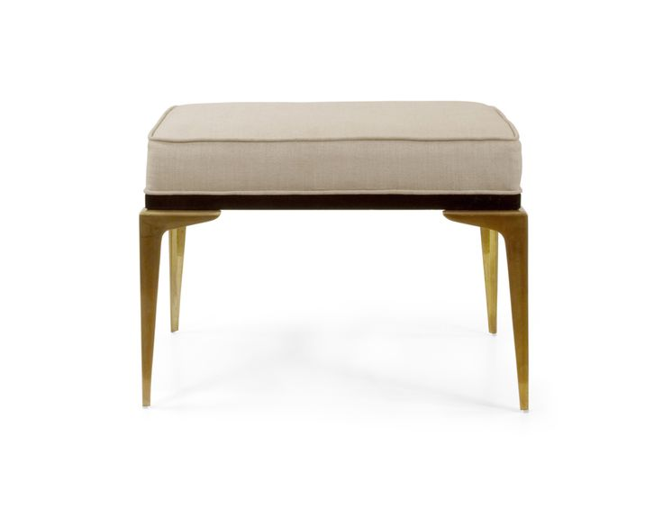 The focal point of this bench is the stiletto solid cast brass legs. The upholstered seat is covered in a Euro linen fabric supported by a hardwood trim ...  sc 1 st  Pinterest & 52 best SEATING - UPHOLSTERED STOOLS images on Pinterest ... islam-shia.org