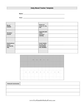 46 best career medical images on pinterest career chronic daily mood diary and chart printable medical form free to download and print pronofoot35fo Images