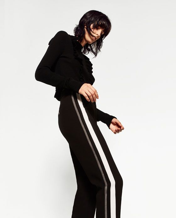 Image 5 of TROUSERS WITH SIDE BAND from Zara