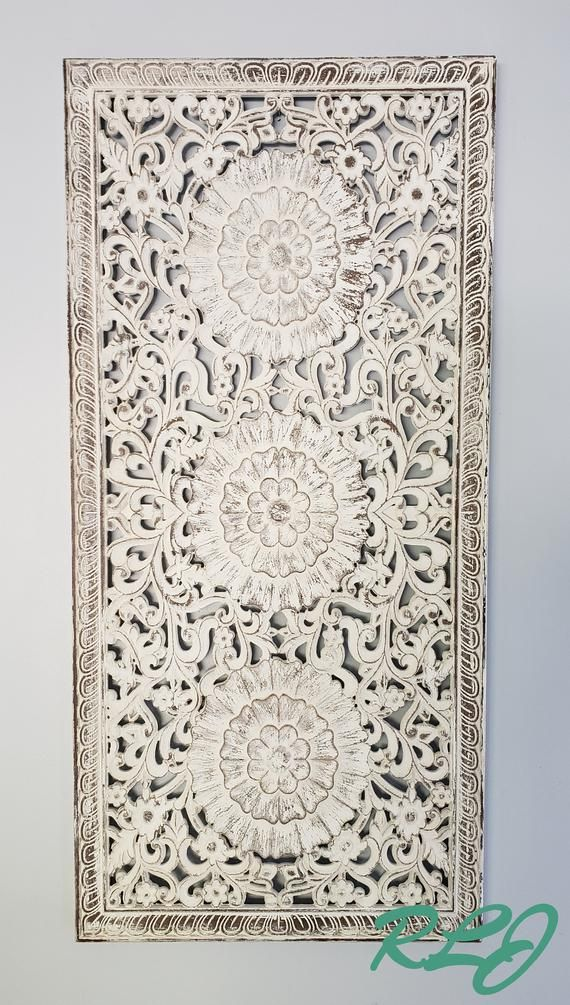 This Dramatic Intricately Carved Wall Panel Instantly Adds Elegance And Charm To Your Home Decor This Gorgeous Wall Carved Wood Wall Art Wall Paneling Decor
