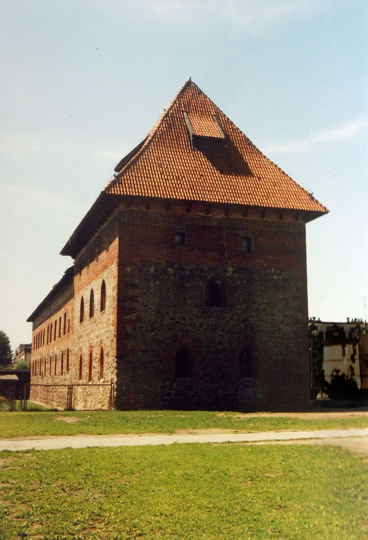 """Nidzica: building known as the """"Little Monastery"""" originally belonged to the medieval defense system of the town of Nidzica. His part was a corner bastion of the city walls."""