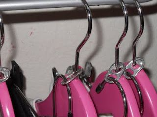 Use soda tabs to double closet space.