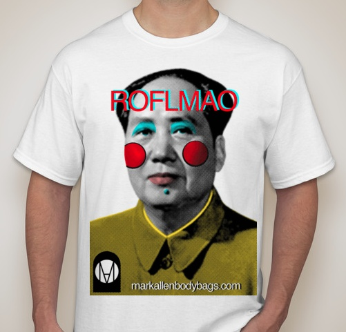 """New shirts to become available at MarkAllenbodybags.com  """"Roll On The Floor Laughing My A$$ Off"""""""