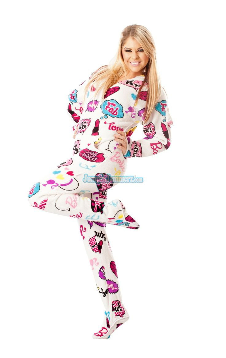 Cute Barbie footie pajamas. These Adult Footed One Piece pjs ...