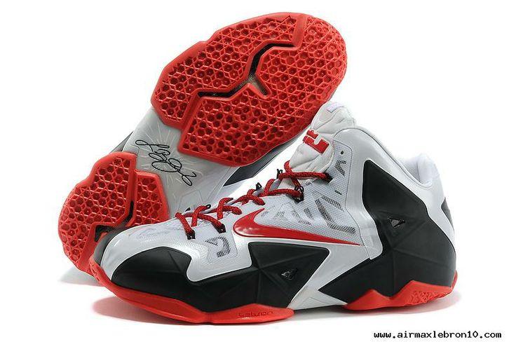 Buy Nike LeBron 11 NikeID White Black Red For Sale