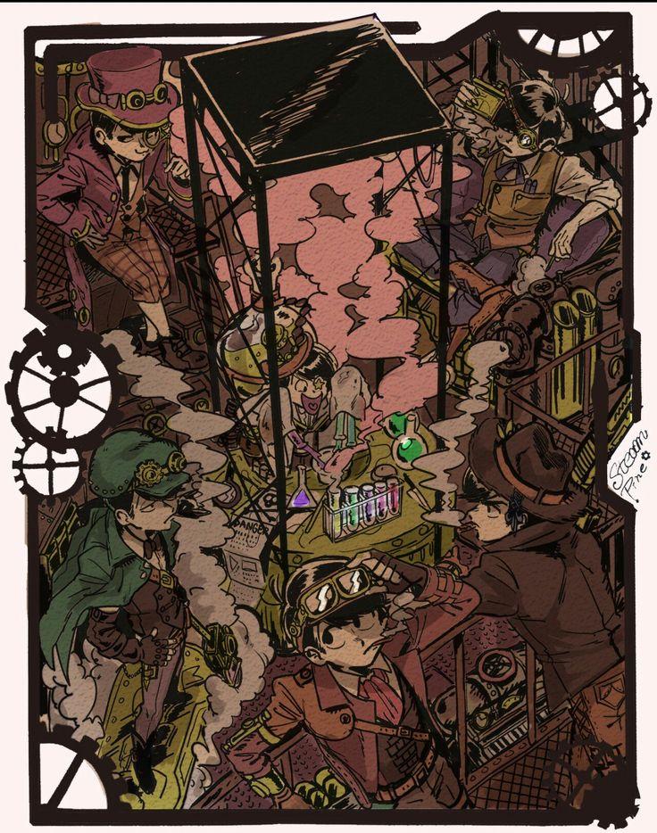 Steampunk!Matsuno Brothers Hesokuri Wars