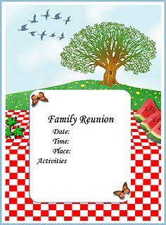 family reunion invitation templates free april onthemarch co