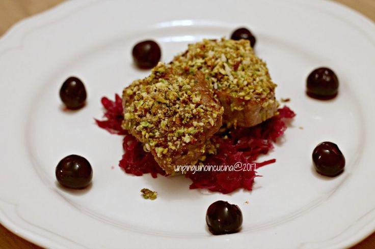 filetto-in-crosta-di-pistacchi-con-amarene