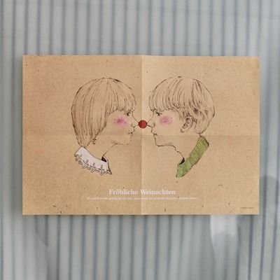 message poster-lovers /christmas illustration