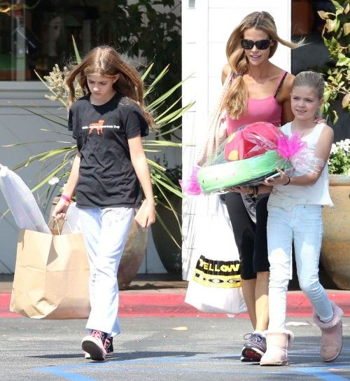 Denise Richards & Daughters: Party Prep