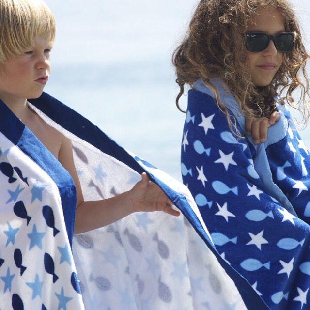 La serviette Fish&Star  #plage #aqua #kidsfashion