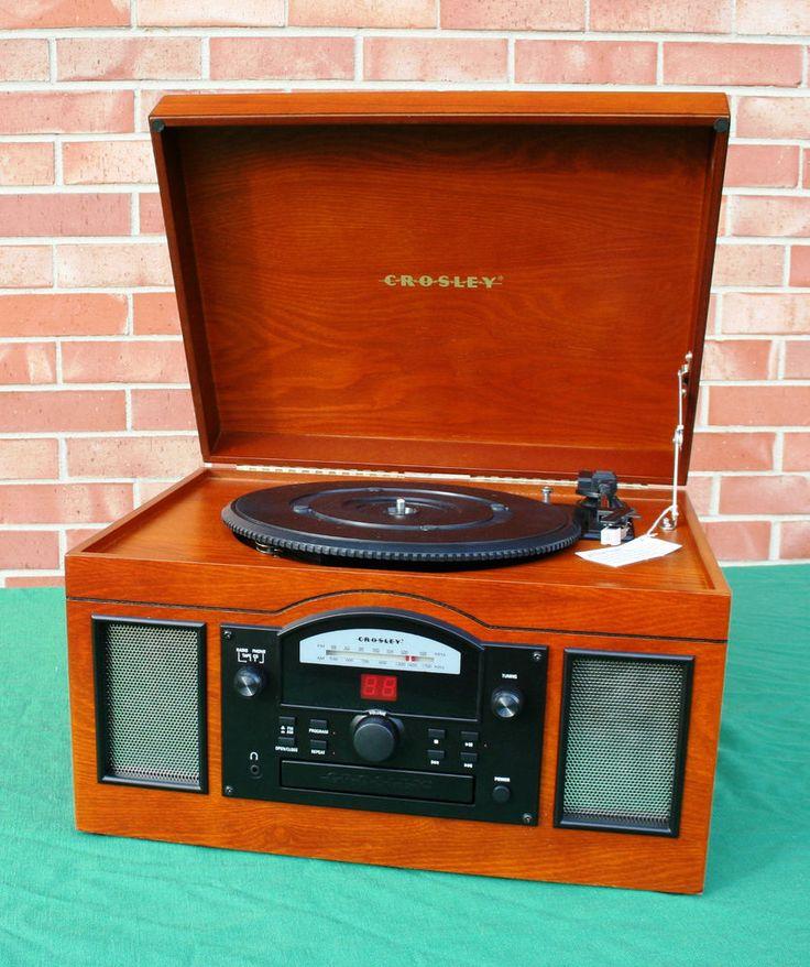 CROSLEY USB Phonograph Record Player Turntable, CD Player, Radio, CR6001 #Crosley
