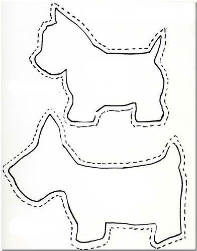 Scottie dog appliques...for onesies!