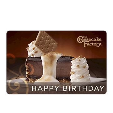 The Cheesecake Factory Birthday Smores  $25 (email delivery)