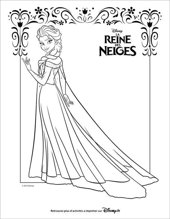 Coloriage : La reine des neiges, Elsa: