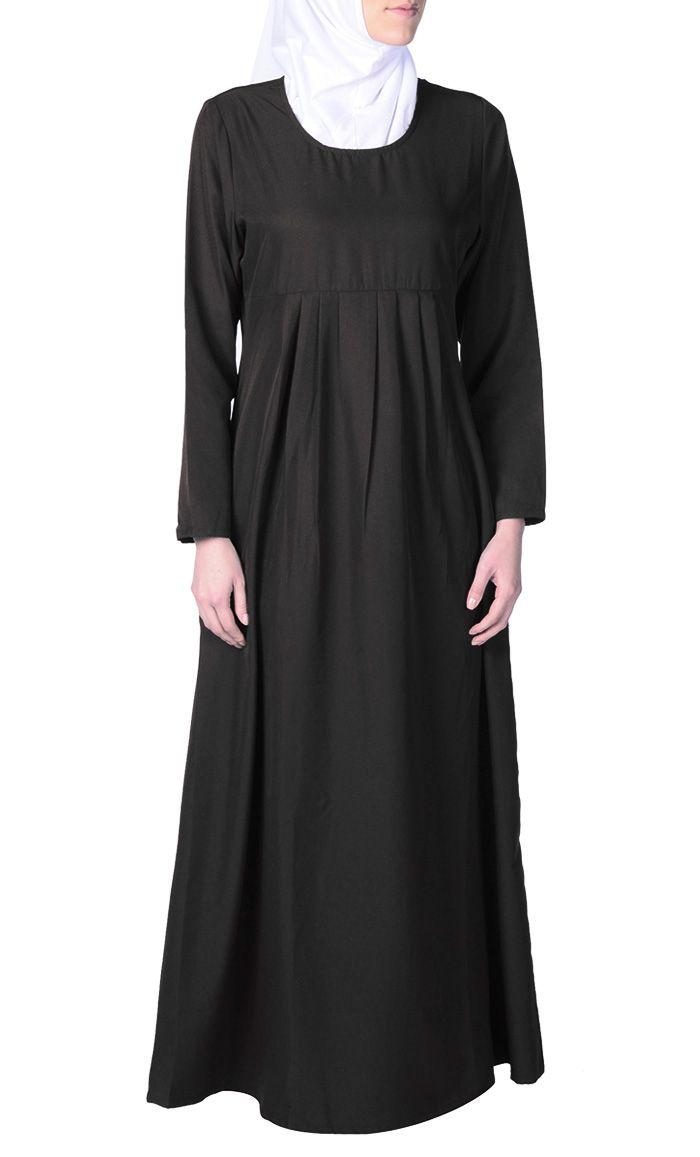 Pleated Plain Everyday Abaya | Women | Eastessence.com