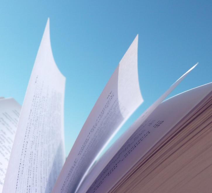 Páginas dos nossos livros ao sol!