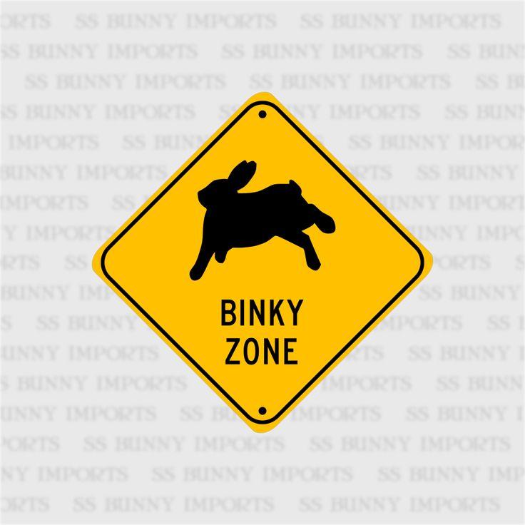Binky Zone sign