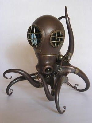 Nosomu Shibata biomechanical sculptures: Metals Sculpture, Punch, Nozomu Shibata, Biomechan Sculpture, Steampunk Octopuses, Beautiful, Nosomu Shibata, Steam Punk, Shibata Biomechan