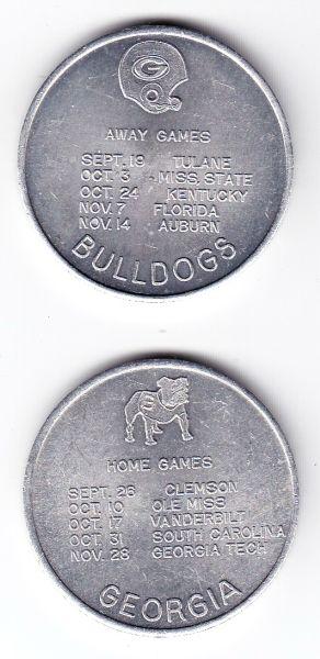1970 UGA Schedule Coin