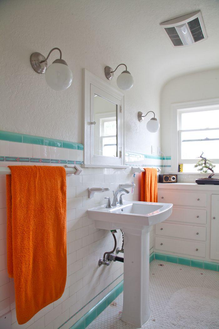 222 best blue orange images on pinterest home ideas for Blue and orange bathroom