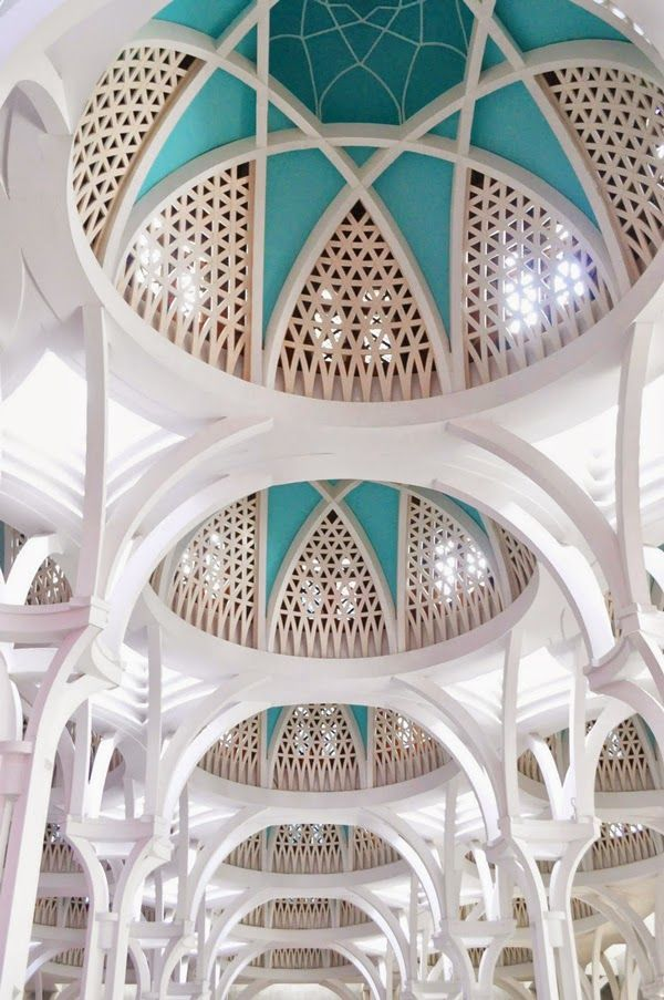 Jamek Mosque in MALAYSIA.... KUALA LUMPUR + all other beautifull mosques. Dome of Jamek Mosque - a beautiful mosque surrounded by the city ... designs by their signature of onion shaped domes, spires, domed shaped canopies
