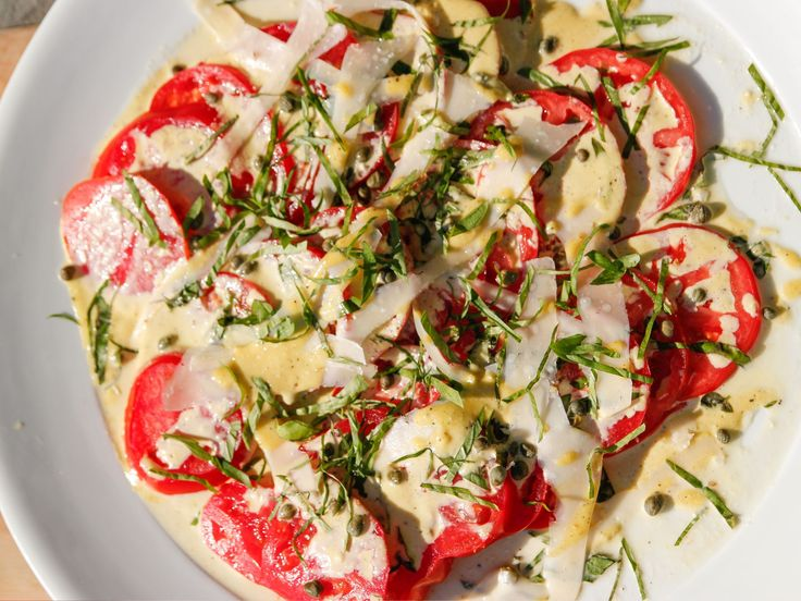 Tomato Carpaccio recipe from Ina Garten via Food Network