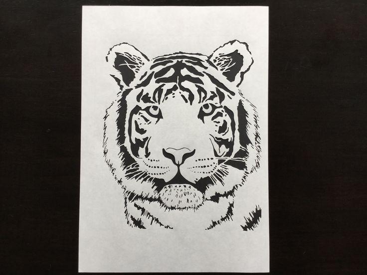 Tiger paper cut